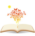 Spring with butterflies colorful in the book vector image vector image