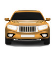 suv car front view isolated on white realistic vector image vector image