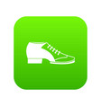 tango shoe icon digital green vector image