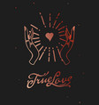true love web banner esoteric card magic hand vector image