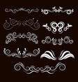 vintage frames and scroll elements7 vector image vector image