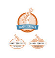 vintage professional handy services logo vector image