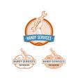 vintage professional handy services logo vector image vector image