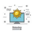 weather meteorology app vector image