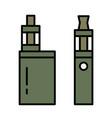 webvape pen vaping box e-cigarette for vaping vector image vector image