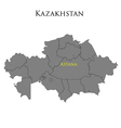 Contour map of Kazakhstan 01 vector image