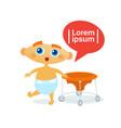 cute baby boy toddler happy cartoon infant in vector image
