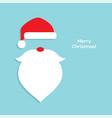 flat santa head icon vector image