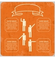 Infographic template with Pointing hands and text vector image