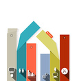 Paper Infographics Template with Flat Design vector image