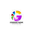 g letter colorful logo vector image