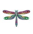 Gem Dragonfly vector image