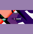 abstract round elements composition background vector image vector image