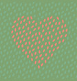 abstract spotted seamless pattern with heart vector image