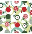 apple pattern seamless vector image vector image