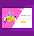Arfiticial food isometric web page