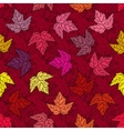 Autumn seamless leaf pattern 10 vector image vector image