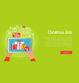 best christmas sale of colourful presents online vector image vector image