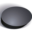 blank black round box isolated on white background vector image vector image