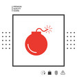 bomb symbol icon vector image