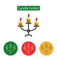 candle holder line icon vector image vector image