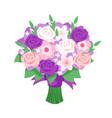 cartoon style of bridal bouquet vector image vector image