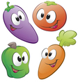 cartoon vegetables set vector image