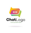 chat logo modern style isolated on background vector image vector image
