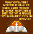Christian motivational quote Bible verse Cross and vector image vector image