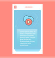cloud play mobile vertical banner design design vector image