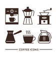 coffee shop linear icons set vector image vector image