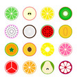 collection of fruit icons vector image vector image