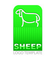 color drawing of sheep vector image vector image