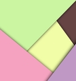 Colorful overlap layer paper material design vector image