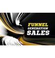 concept sales funnel targeting seo smm vector image