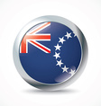 Cook Islands flag button vector image
