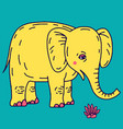cute elephant cartoon sitting vector image vector image