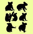 cute koalas gesture animal silhouette vector image vector image