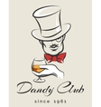 Dandy Club Emblem vector image