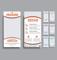 design white flyers size of 210x99 mm vector image vector image