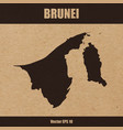 detailed map of brunei on craft paper vector image vector image