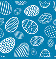 easter egg seamless pattern blue color holiday vector image