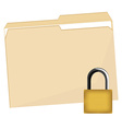 File folder and lock vector image