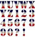 Flag of United States Alphabet vector image vector image