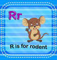 flashcard letter r is for rodent vector image