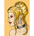 Girl with hairdress in the babetta style vector image vector image