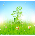green grass background vector image vector image