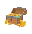 Half Open Pirate Chest With Golden Coins And vector image vector image