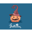 halloween of decorative orange pumpkin in wi vector image