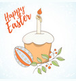 Happy easter hand drawn retro card